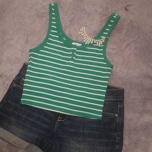 Striped and Ribbed Top
